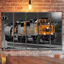 Railway Train Locomotive Wall Art Picture Painting Print Decor on Canvas Panels