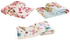 Mara Vintage Floral Soft Coral Fleece Blanket Cosy Bed Sofa Throw 140cm X 180cm