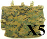 Set 5 of USMC MARPAT Gen 2 Radio Pouch Utility Pouch for ILBE Main Pack NEW!