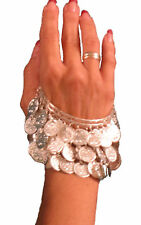 Belly Dance Jewelry Egyptian Silver coin bangle/bracelet/Armlet *Free Shipping*