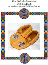 MAKE YOUR OWN NATIVE AMERICAN DEER OR ELKSKIN MOCCASINS  WITH BEADWORK ROSETTES