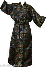 New Black Toile Robe Woman's Housecoat Bathrobe Coat Pool Cover Up Stunning