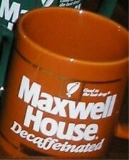 Vintage New Mint 2 Brown Maxwell House Promotion Coffee Mugs Cups Japan
