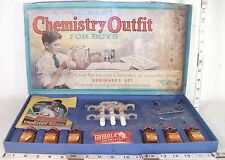 GILBERT 1930s CHILD'S ANTIQUE CHEMISTRY FOR BOYS OUTFIT BOXED