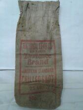 Vintage canvas National Lead Co St Louis Lawrence 25lb 7.5 bag chilled shot Usa