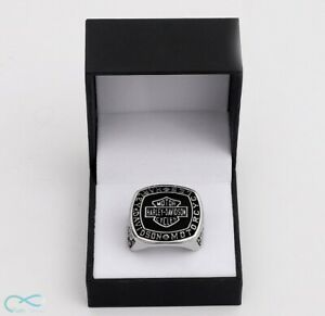Ring of Harley Davidson Motor Cycles Badass Silver Handmade - All sizes