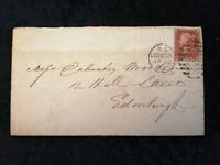 Großbritannien Brief von 1865 - Königin Victoria;Buchstaben in den Ecke Nr.1