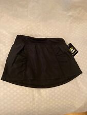 Girls Champion Black Skort With Inner Athletic Shorts Size XS 4-5