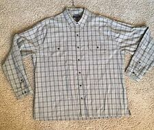 Land's End Men's Button Up Shirt - Sage Green Plaid, Size XXL- 18-18 1/2