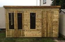 12 x 8 19mm Tanalised & Pressure Treated T&G Pent Combi Shed/Summerhouse