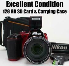 Nikon Coolpix B500 16MP 40x Optical Zoom HD Digital Camera Wi-fi Tilt Screen Red