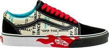 Vans OLD SKOOL SUEDE CANVAS SKATE Shoes Size 10 Men's OTW Flame OFF THE WALL