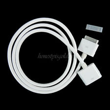 New 30 PIN 1M Dock-Extender Extension Cable Cord For IPhone 4S 4 IPad IPod White