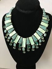 Women's NWT Kate Spade New York Turquoise Beach Gem Statement Necklace