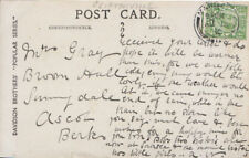 Genealogy Postcard - Gray - Sunnydale - Ascot - Berkshire - Ref  3590A