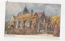 Rye Church WH Borrow Vintage Art Postcard 811a