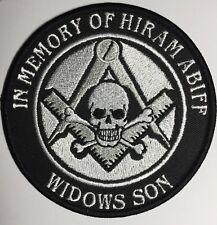 Freemason Masonry Masonic Master masons Square and Compass Hiram Abiff patch !