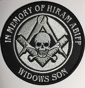 "4"" In Memory of Hiram Abiff Widows Son patch very Rare Freemason Masonic Craft !"