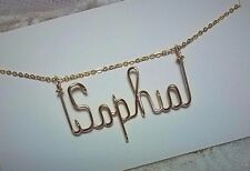 Name Necklace 14 K Gold Filled  Personalized Wire jewelry 18 inch chain