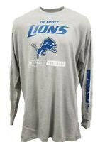 Detroit Lions NFL Majestic Grey Long Sleeve T-Shirt Men's Big & Tall, 3XLT