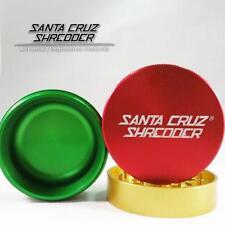 """Medium 2.2"""" Rasta Santa Cruz Shredder Aluminum Herb Grinder 3 Piece Grip"""