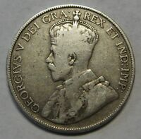 1917 Canada Silver Half Dollar Nice Early Issue Grading VG           c005