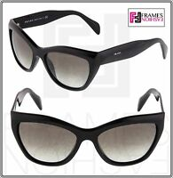 PRADA Poeme Cat Eye PR02QS Shiny Black Gradient Sunglasses 1AB-0A7