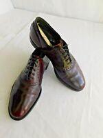 Vintage FootJoy 73981 Men Cordovan Burgundy Saddle Street Shoes SZ 10.5C USA