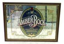 Michelob AMBER BOCK BEER 1996 - 29'' x 21'' - Wood Framed Mirror Sign - Bar Sign
