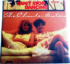 "THE CHANTER SISTERS CAN'T STOP DANCING 12"" BLUE VINYL AS NEW STILL SEALED"