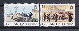 TRISTAN DA CUNHA 1983 DEFINITIVE H/VALUE £1.00 and £2.00 STAMPS SG 359 - 360.