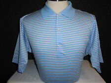 NEW MEN'S FAIRWAY & GREENE GOLF SIGNATURE S/S POLO SHIRT, LIGHT BLUE,SIZE MEDIUM