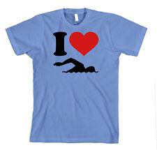 I Love Swimming Sport Unisex Adult T-Shirt Tee Top