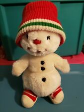 Vintage Russ Snowman Christmas Plush Snowflake Red Hat Sneakers 11 Inch