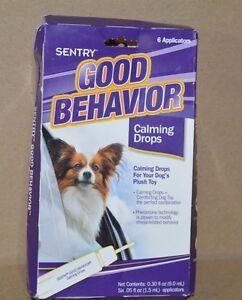 Sentry Good Behavior Calming Drops for Dog Plush toys 6 Applicators .05 fl oz ea