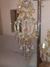 Lampadario antico Maria Teresa 1 luce vintage Old Chandelier
