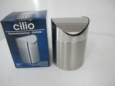 CILIO Tischabfallbehälter SWING aus Edelstahl mit Schwingdeckel