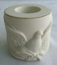 Lenox, American by Design Dove Tealight / Votive Candle Holder. Gold Rim