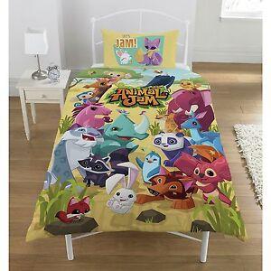 Animal Jam Reversible Rotary Single Bed Duvet Quilt Cover Set Brand New Gift