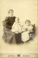 Altes CDV-Foto 19. Jahrhundert 1897 Mutter Kinder Photograph Stuttgart Heilbronn