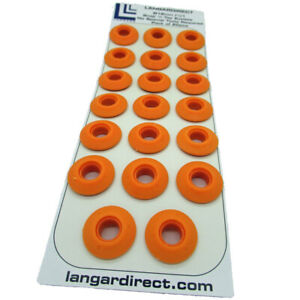 20 Orange Plastic Snap Eyelets 12mm, Washer Sealed for Tarpaulin & Groundsheets