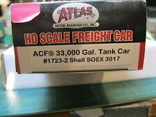 Atlas 1723-2 ACF 33,000 gal tank car Shell SOEX #3017
