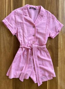 Zara Hot Pink Jumpsuit Romper Size S