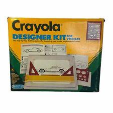 Crayola Designer Kit for Vehicles 1989 Drawing Board Tools Manual