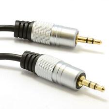 2m Pro Audio Metal estéreo de 3,5 mm Jack A Jack De Audio Cable Gold [ 006937 ]