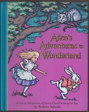 Fine AUTOGRAPHED 1st ED HC Robert Sabuda Pop Up Alice Adv in Wonderland Carroll