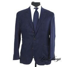 #1 MENSWEAR RECENT LNWOT Brunello Cucinelli Silk Mix Basketweave Navy Jacket 52