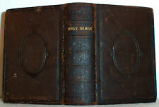 1875 HOLY BIBLE Leather Binding , King James Vers., Chapman Brooklyn Connecticut