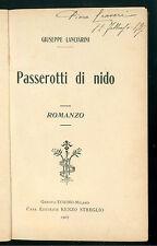 LANCIARINI GIUSEPPE PASSEROTTI DI NIDO STREGLIO 1907 INFANZIA