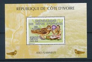 [40888] Ivory Coast 2005 Birds Vögel Oiseaux Ucelli  Owls Scouting MNH Sheet